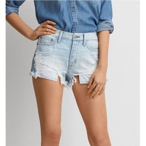 AE vintage high rise festival distressed shorts